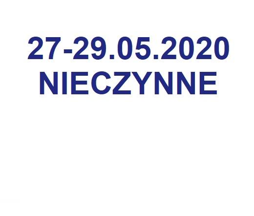 Biuro nieczynne 27-29.05.2020