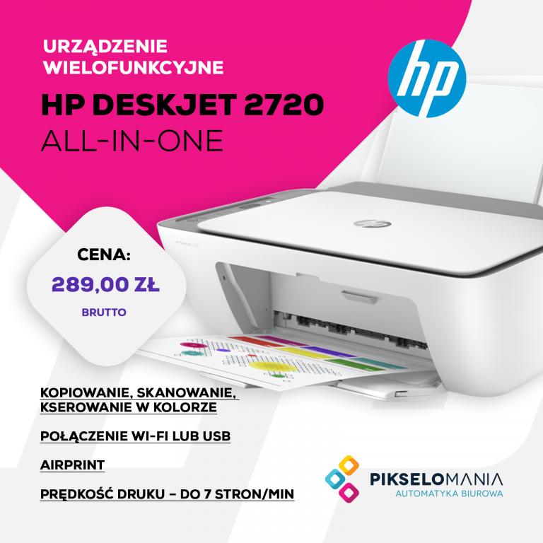 Promocja Urządzenie wielofunkcyjne HP Deskjet 2720 All-in-One | Pikselomania