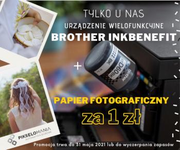 Urządzenie wielofunkcyjne Brother InkBenefit + papier fotograficzny za 1 zł
